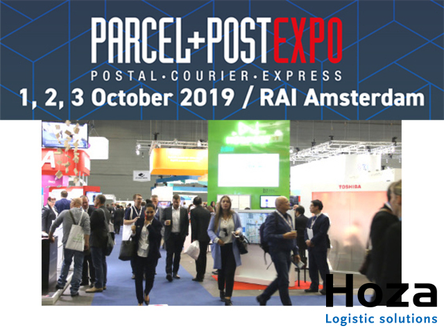 Hoza Logistic solutions op de Parcel + Post Expo 2019 in de RAI Amsterdam